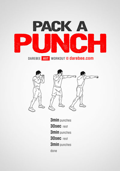 Pack a punch workout free from Darebee