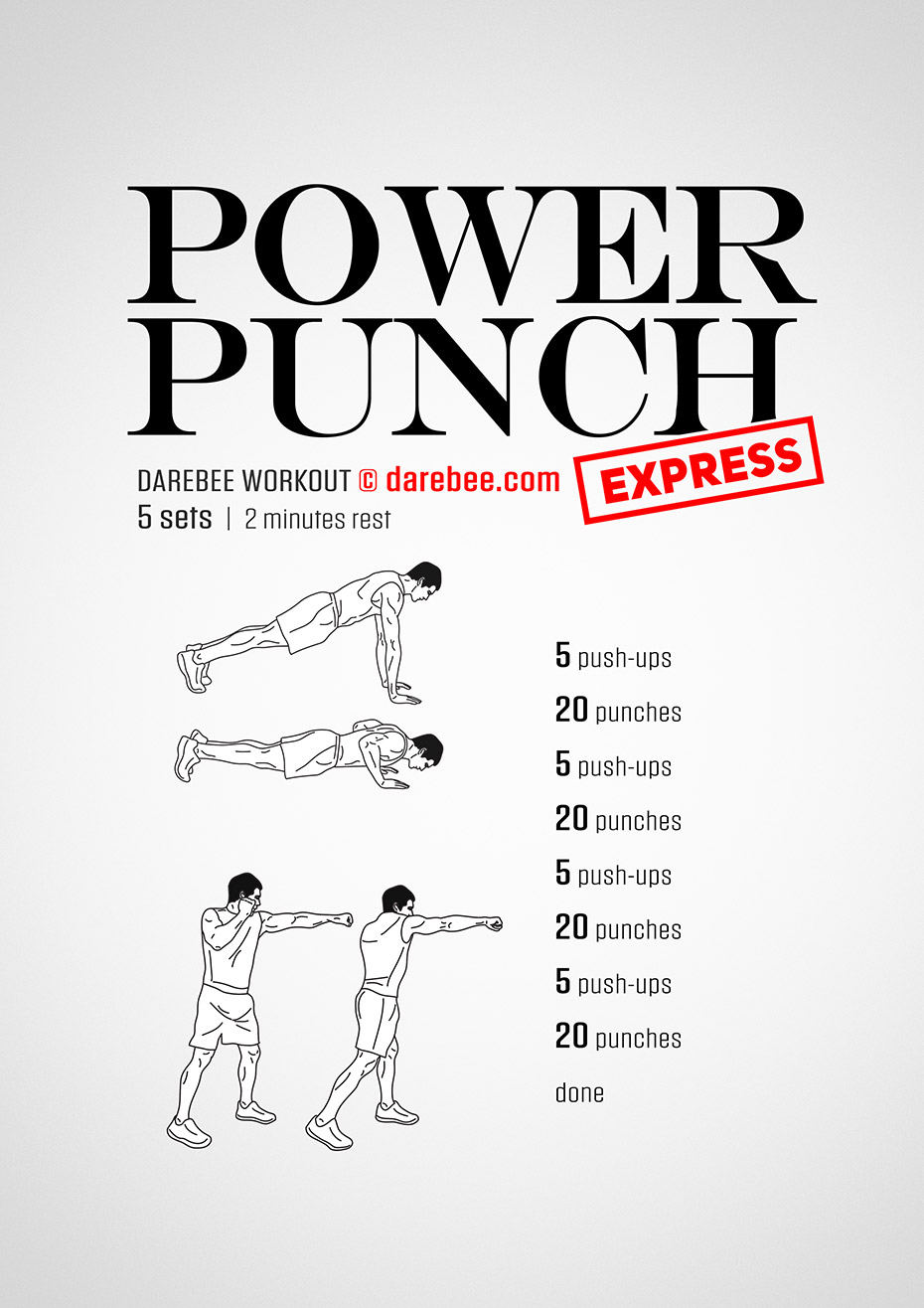 how to get better cardio and punching power