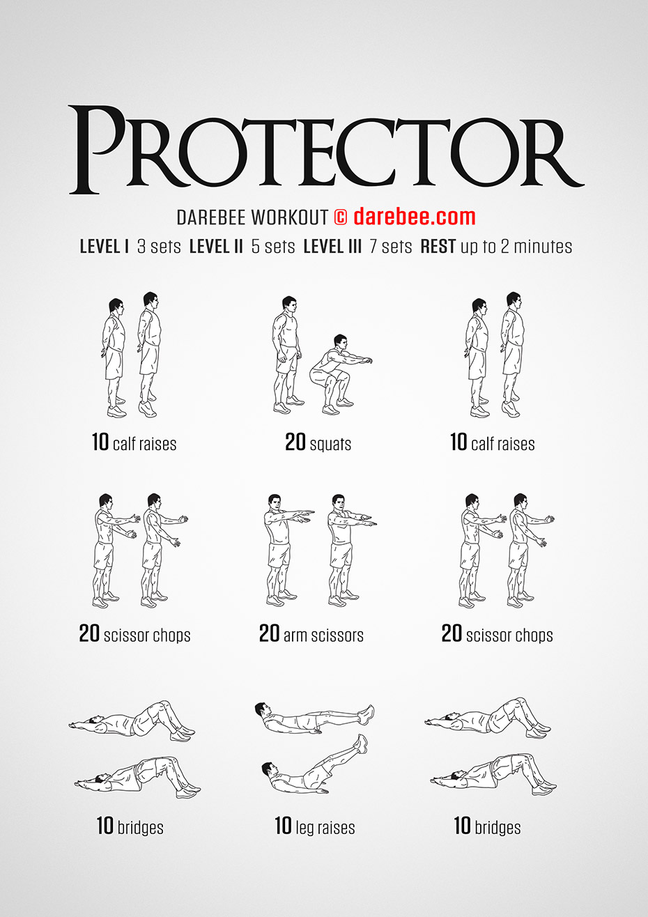 Protector is a Free Full Body Darebee workout.