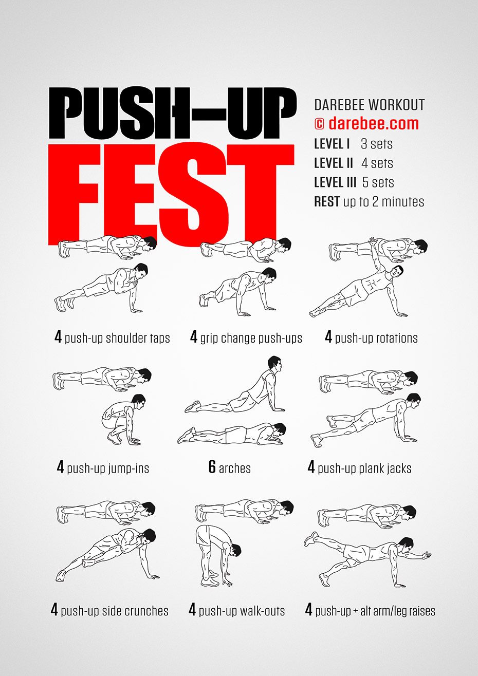Push-Up Fest Workout