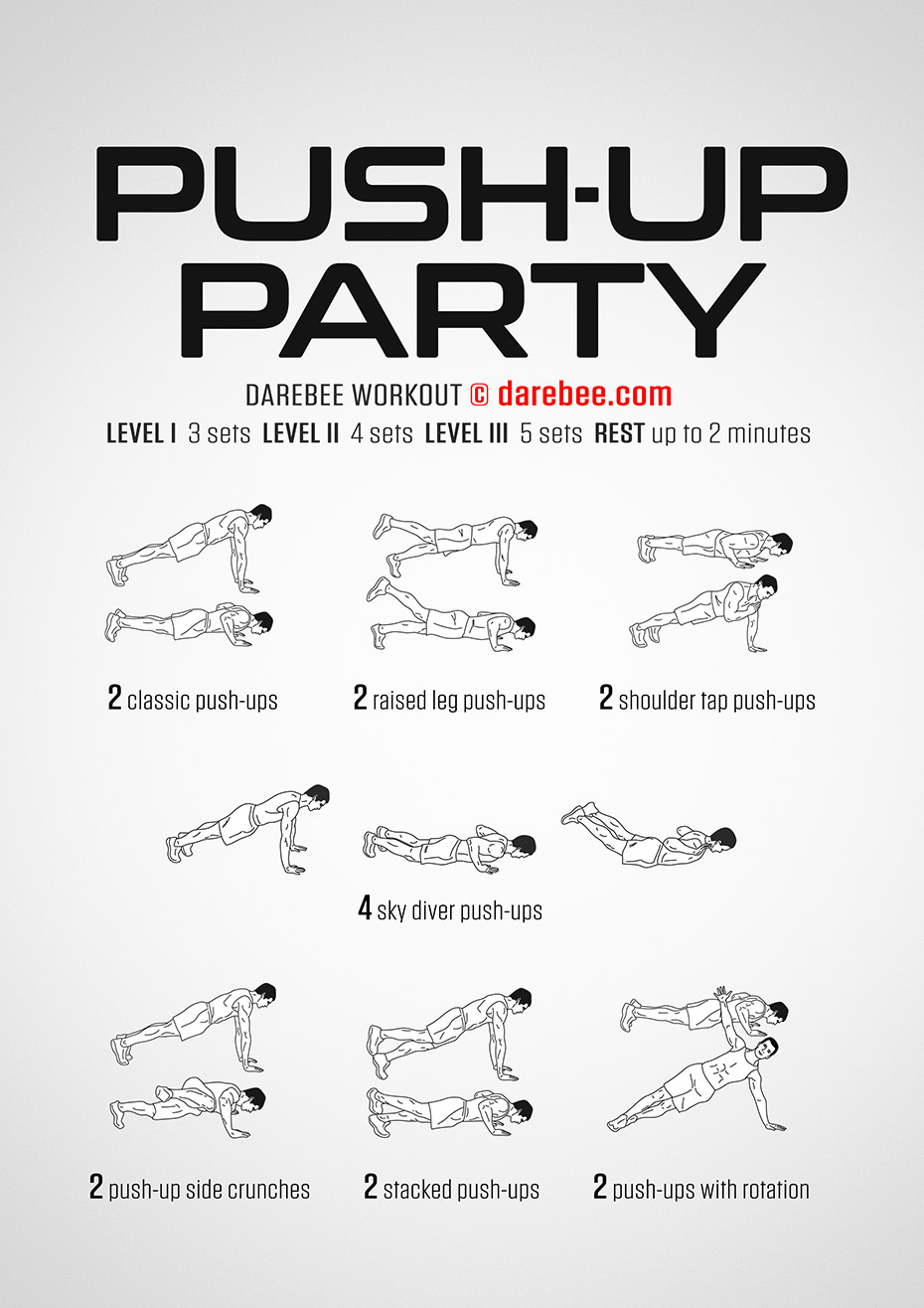 Push-Up Party Workout