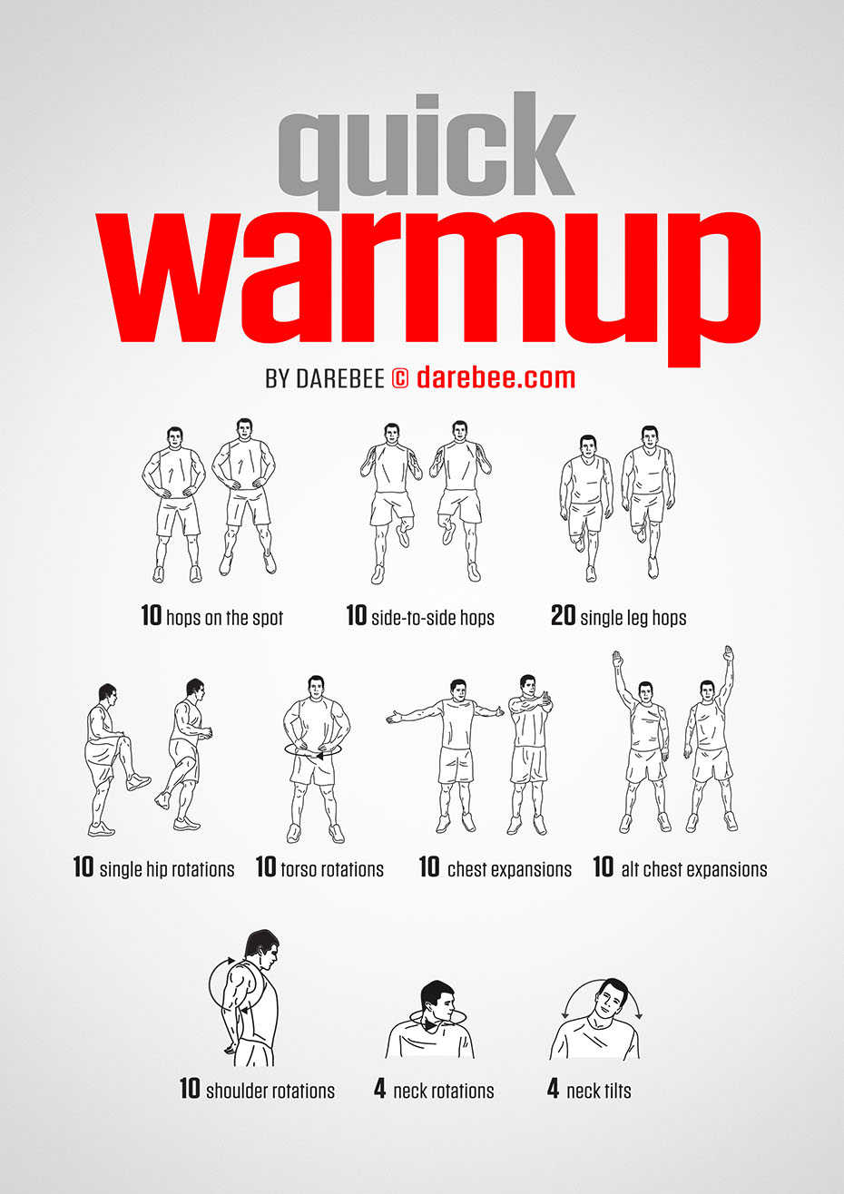 warm up Warming up is a critical starting point for an optimal workout can you get by without one sure can you do some arm circles, leg swings, and jump right into your session i guess but if your goal is to improve your performance in the gym or on the court/field, you need to use proven warm-up principles that have stood up to the test of time.