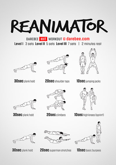 Reanimator Free Fitness Workout from Darebee