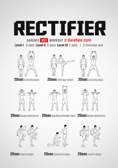 The Rectifier is a free HIIT workout from Darebee
