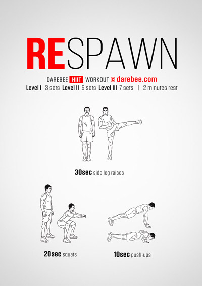 Respawn Darebee free home workout