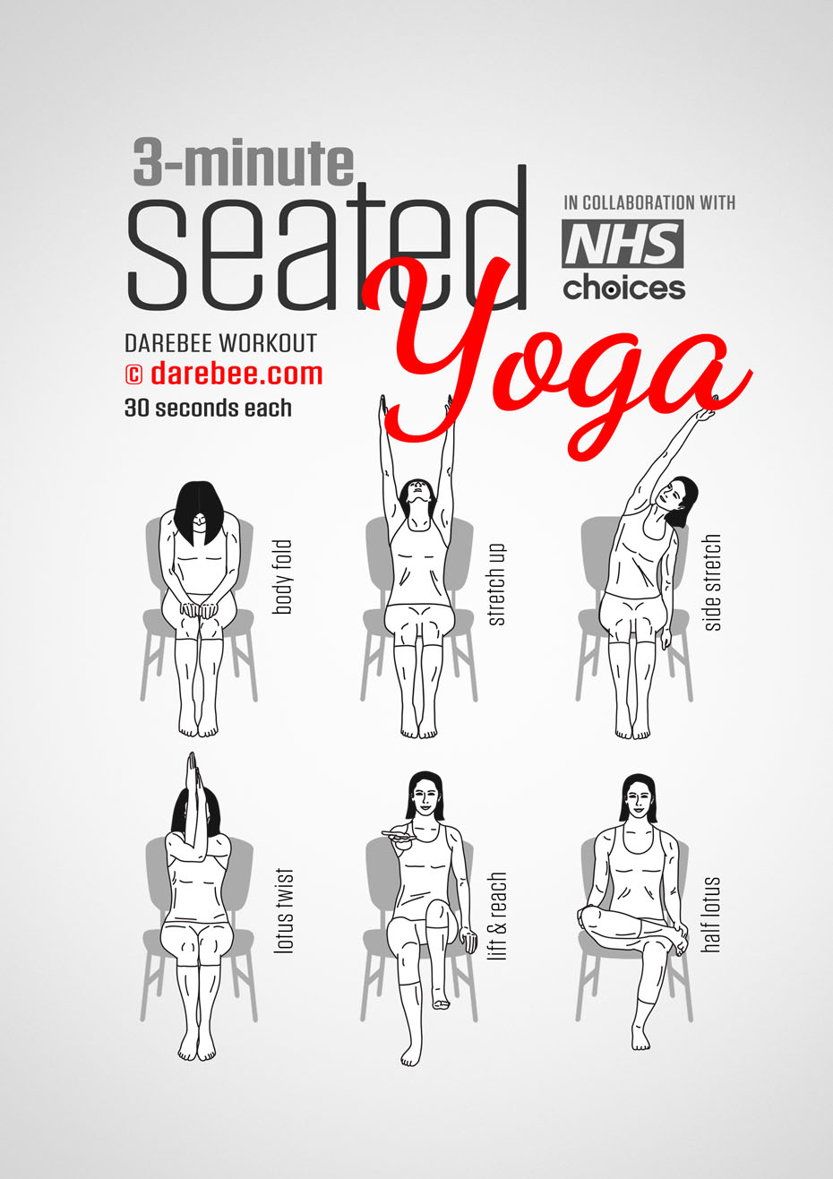 photo regarding Printable Chair Yoga Routines known as Seated Yoga Exercise