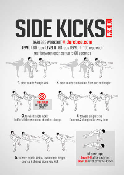 Side Kicks Practice Workout