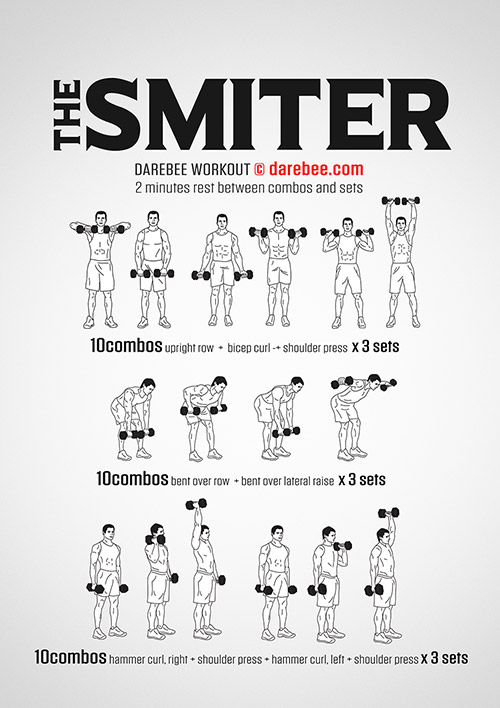 The Smiter, free, very difficult workout by Darebee