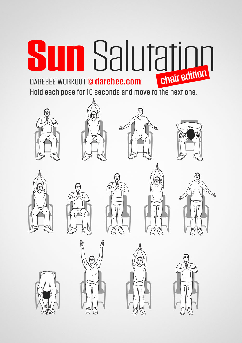 Sun Salutation Chair Workout