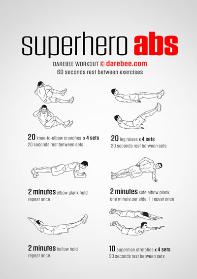 Superhero Abs Workout