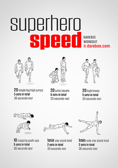 Superhero Speed Workout