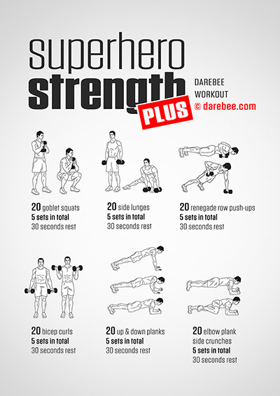 Superhero Strength Plus free workout from Darebee