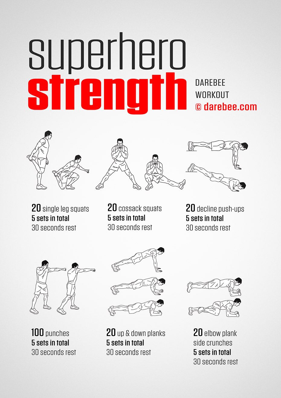Superhero Strength free workout from Darebee