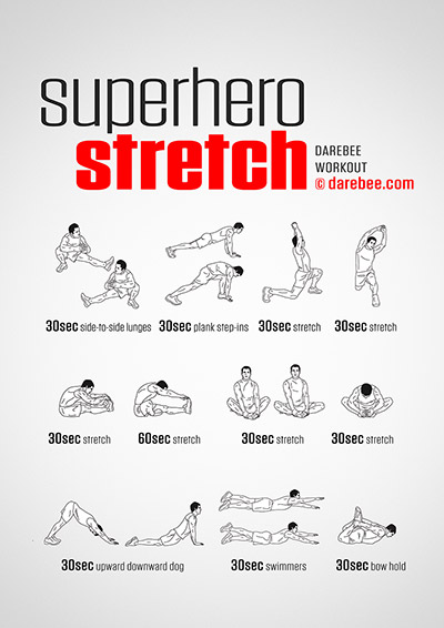 Superhero Stretch Workout