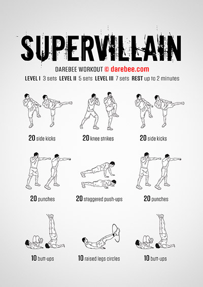Supervillain PDF free full body workout by Darebee