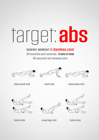 Free abs workout by Darebee