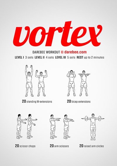 Vortex free upper body strength workout by Darebee